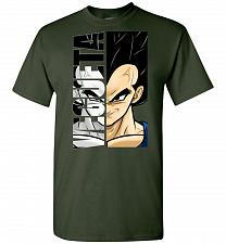 Buy Vegeta Unisex T-Shirt Pop Culture Graphic Tee (M/Forest Green) Humor Funny Nerdy Geek