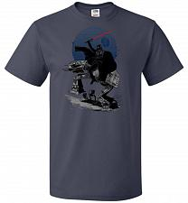Buy Crossing The Dark Path Unisex T-Shirt Pop Culture Graphic Tee (4XL/J Navy) Humor Funn