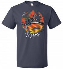 Buy Retro Rebels Unisex T-Shirt Pop Culture Graphic Tee (4XL/J Navy) Humor Funny Nerdy Ge