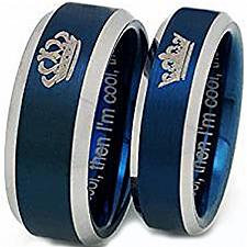 Buy coi Jewelry Titanium King Queen Wedding Band Ring