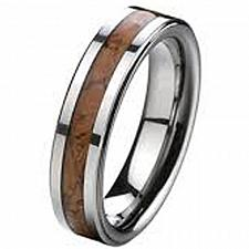 Buy coi Jewelry Tungsten Carbide Ring With Wood - TG2445(Size US9.5)
