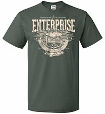 Buy Enterprise Unisex T-Shirt Pop Culture Graphic Tee (L/Forest Green) Humor Funny Nerdy