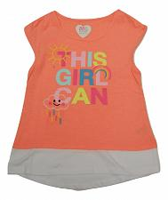 Buy Girls T-Shirt Embroidered Graphic TwoFer Peach Size 6 Sleeveless Garanimals
