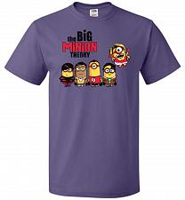 Buy The Big Minion Theory Unisex T-Shirt Pop Culture Graphic Tee (6XL/Purple) Humor Funny