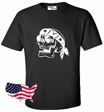 Buy Biker Skull Motorcycle Tattoo T shirt #37