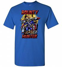 Buy Bounty Hunter Rocket Raccoon Unisex T-Shirt Pop Culture Graphic Tee (2XL/Royal) Humor