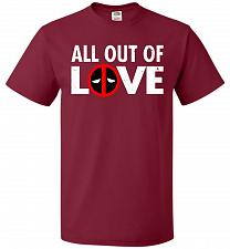 Buy All Out Of Love Unisex T-Shirt Pop Culture Graphic Tee (XL/Cardinal) Humor Funny Nerd
