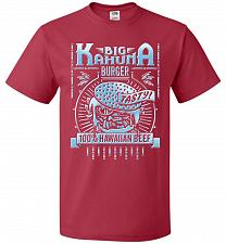 Buy Big Kahuna Burger Adult Unisex T-Shirt Pop Culture Graphic Tee (S/True Red) Humor Fun
