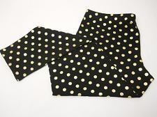 Buy Women Leggings Black Gold Foil Polka Dot Ankle Length Mid Rise SIZE XL Inseam 29
