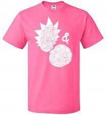 Buy Rick N Morty Unisex T-Shirt Pop Culture Graphic Tee (3XL/Neon Pink) Humor Funny Nerdy