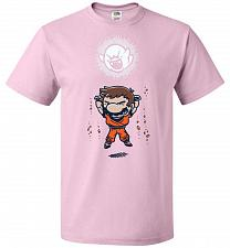 Buy Spirit Bomb Unisex T-Shirt Pop Culture Graphic Tee (S/Classic Pink) Humor Funny Nerdy