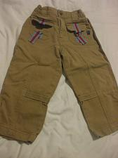 Buy Brown Corduroy Pants With Red Detailing Size 3X Souri Mini 100% Cotton
