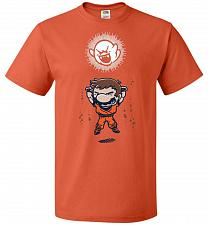 Buy Spirit Bomb Unisex T-Shirt Pop Culture Graphic Tee (4XL/Burnt Orange) Humor Funny Ner
