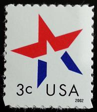 Buy 2002 3c American Designs, Star Make-Up Issue Scott 3614 Mint F/VF NH