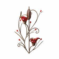 Buy 13923U - Ruby Blossom Tea Light Candle Holder Wall Sconce