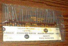 Buy 25: Allen Bradley RCR32G302JS : 1W 3000 Ohms Resistors