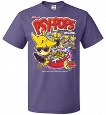 Buy Alakagam's Psy-Pops Unisex T-Shirt Pop Culture Graphic Tee (L/Purple) Humor Funny Ner
