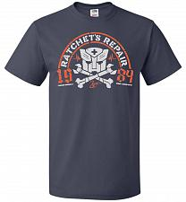 Buy Transformers Ratchet's Repair Adult Unisex T-Shirt Pop Culture Graphic Tee (S/J Navy)