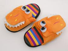 Buy Children T-REX Slippers SIZE S Boys Girls Kids House Shoes Slippers Orange