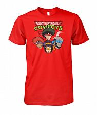 Buy Bounty Hunting Ninja Cowboys Unisex T-Shirt Pop Culture Graphic Tee (4XL/Red) Humor F