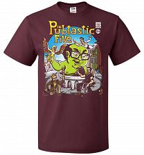 Buy Pubtastic Five Unisex T-Shirt Pop Culture Graphic Tee (M/Maroon) Humor Funny Nerdy Ge