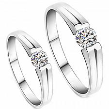Buy coi Jewelry Titanium Solitaire Ring - JT1824(Size:US8.5)