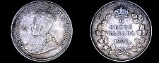 Buy 1920 Canada 5 Cent World Silver Coin - Canada - George V - Lot#9932