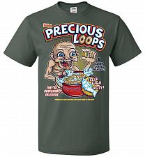 Buy Gollum's Precious Loops Unisex T-Shirt Pop Culture Graphic Tee (S/Forest Green) Humor