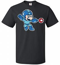 Buy Mega Mario Unisex T-Shirt Pop Culture Graphic Tee (XL/Black) Humor Funny Nerdy Geeky