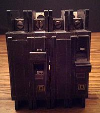 Buy Lot of 2: Square D 25A 2 Pole Type QOU Circuit Breakers