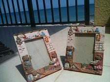 """Buy Set of 2 Teddy Bear Family Ceramic Picture Frames for 5"""" x 4"""" Photos"""