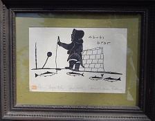Buy Vintage Inuit Eskimo Stone-print, HENRY NAPUTOK, 12x16, matte & frame