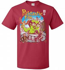 Buy Pubtastic Five Unisex T-Shirt Pop Culture Graphic Tee (2XL/True Red) Humor Funny Nerd