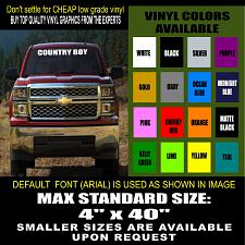 Buy COUNTRY STYLE WINDSHIELD CUSTOM LETTERING VINYL DECAL STICKER DECALS ANY TEXT