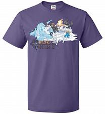 Buy Chrono Throne Unisex T-Shirt Pop Culture Graphic Tee (2XL/Purple) Humor Funny Nerdy G