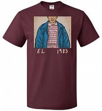 Buy EL 1983 Unisex T-Shirt Pop Culture Graphic Tee (6XL/Maroon) Humor Funny Nerdy Geeky S