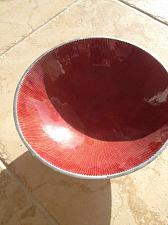 Buy Stunning Decorative Red And Silver Colored Serving Dish