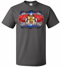 Buy Red Ranger Unisex T-Shirt Pop Culture Graphic Tee (4XL/Charcoal Grey) Humor Funny Ner