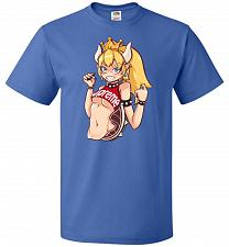 Buy Bowsette Unisex T-Shirt Pop Culture Graphic Tee (M/Royal) Humor Funny Nerdy Geeky Shi