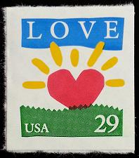 Buy 1994 29c Love & Sunrise, SA Scott 2813 Mint F/VF NH