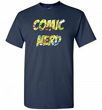Buy Comic Nerd Unisex T-Shirt Pop Culture Graphic Tee (4XL/Navy) Humor Funny Nerdy Geeky