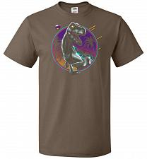 Buy Rad Velociraptor Unisex T-Shirt Pop Culture Graphic Tee (5XL/Chocolate) Humor Funny N
