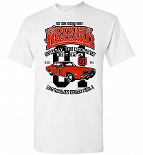 Buy Dukes of Hazzard General Lee Unisex T-Shirt Pop Culture Graphic Tee (3XL/White) Humor