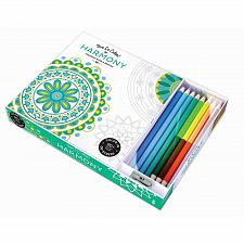 Buy :10808U - Harmony 96 Page Adult Coloring Book w/8 Colored Pencils