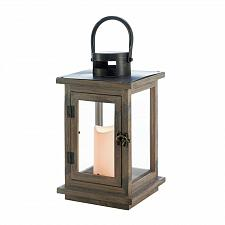 "Buy *18494U - Rustic 14.5"" Lantern LED Pillar Candle Holder"