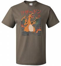 Buy Fire Kaiju Unisex T-Shirt Pop Culture Graphic Tee (6XL/Safari) Humor Funny Nerdy Geek