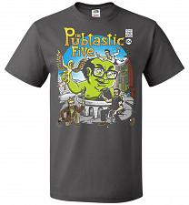 Buy Pubtastic Five Unisex T-Shirt Pop Culture Graphic Tee (S/Charcoal Grey) Humor Funny N