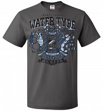 Buy Water Type Champ Pokemon Unisex T-Shirt Pop Culture Graphic Tee (L/Charcoal Grey) Hum