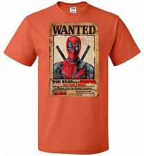 Buy Deadpool Wanted Poster Youth Unisex T-Shirt Pop Culture Graphic Tee (Youth M/Burnt Or