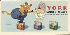 Buy Vintage York Canned Meats Ink Blotter Canada Packers Limited Dancing Pig
